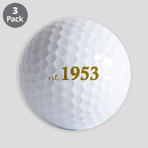 Est 1953 (Born in 1953) Golf Balls