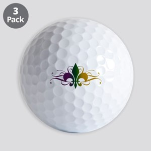 fleur-de-lis-swirls_color Golf Balls
