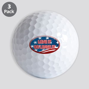 LOVE IT OR LEAVE IT! AMERICAN FLAG Golf Balls