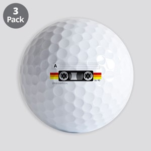 Cassette tape label 2 Golf Balls