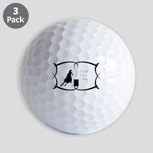 Barrel Racing 3 barrels Golf Balls