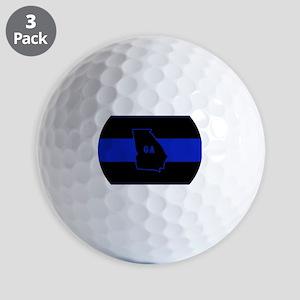 Thin Blue Line - Georgia Golf Balls