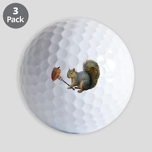 Squirrel Acorn Fork Golf Ball