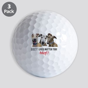 Grey Lives Matter Too ADOPT! Golf Balls