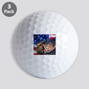 American Flag striper Golf Balls
