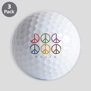 Imagine - Six Signs of Peace Golf Balls