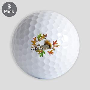 Squirrel Oak Acorns Golf Balls