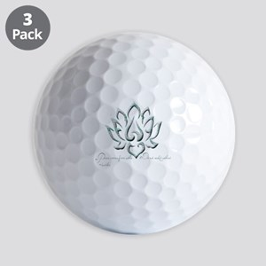 Buddha Lotus Flower Peace quote Golf Ball