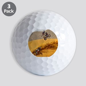 Motocross Riders Riding Sand Dunes Golf Ball