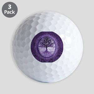 Tree of Life in Purple Golf Ball