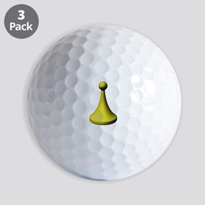 Yellow Pawn Golf Balls