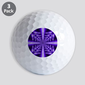 Trippy Purple Plaid Golf Balls
