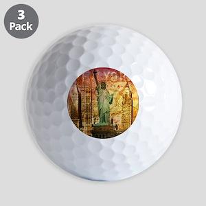 cool statue of liberty Golf Balls