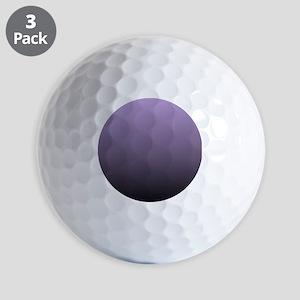 black purple ombre Golf Balls