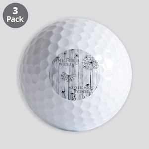 Dandelion Wish Golf Balls