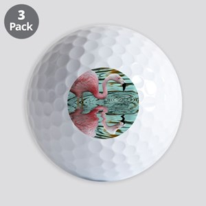 Pink Flamingo Reflection Golf Balls
