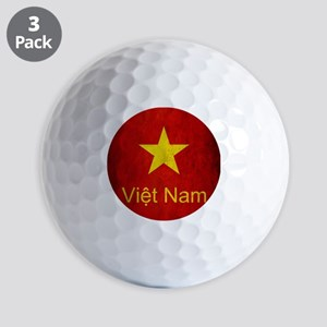 Grunge Vietnam Flag Golf Balls