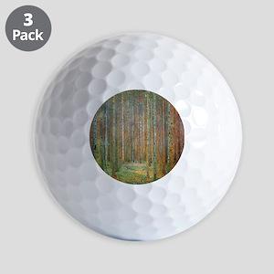 Gustav Klimt Pine Forest Golf Balls
