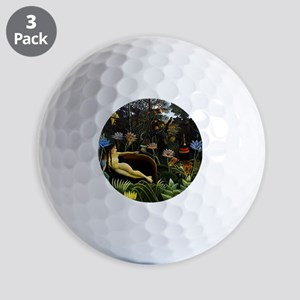 Henri Rousseau The Dream Golf Balls