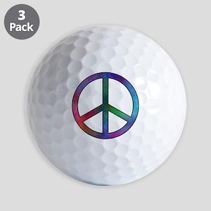 Multicolored Peace Sign Golf Balls