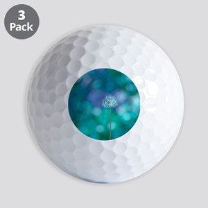 Golf Balls - Dandelion with blue and green