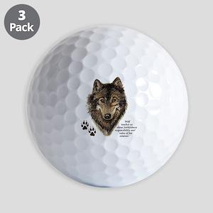 Wolf Totem Animal Guide Watercolor Natu Golf Balls