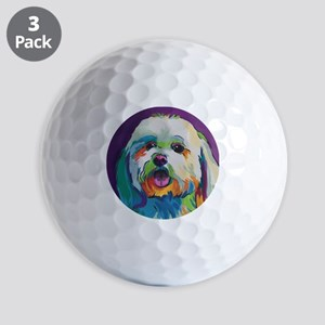 Dash the Pop Art Dog Golf Balls