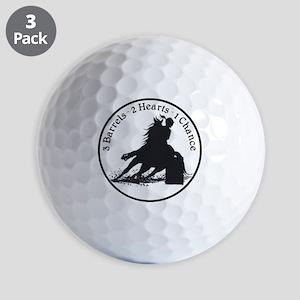 3 barrels 2 hearts Golf Balls