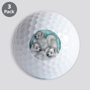samoyed dogs Golf Balls