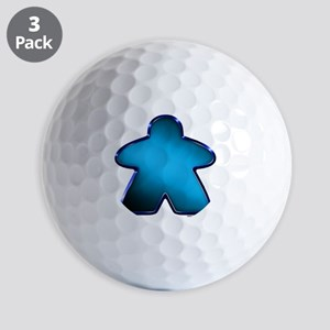 Metallic Meeple - Blue Golf Balls