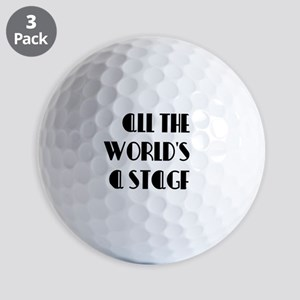 All The Worlds a Stage Golf Balls