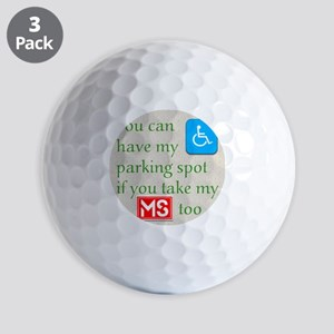 10 x 10 HandicapParking Golf Balls