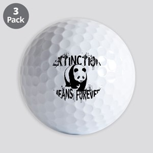 Panda Extinction1 Golf Balls