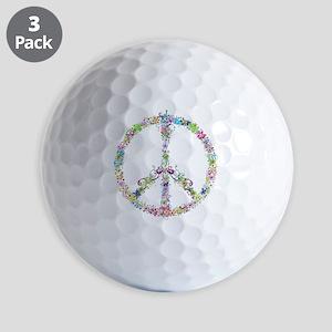 Peace of Flowers Golf Balls