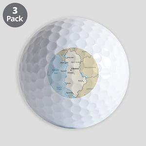 Albanian Map Golf Balls