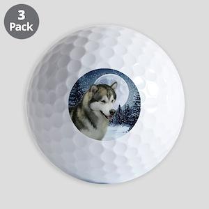 WinterMalamuteTile Golf Balls