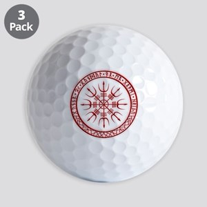 Aegishjalmur: Viking Protection Rune Golf Balls