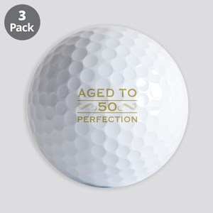 50 Aged To Perfection Golf Balls