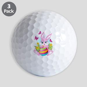 Pink Easter Bunny Golf Balls