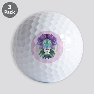 Triangle Colorful Lion Head Golf Balls