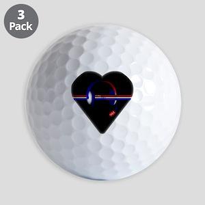 911 Dispatcher (Heart) Golf Ball
