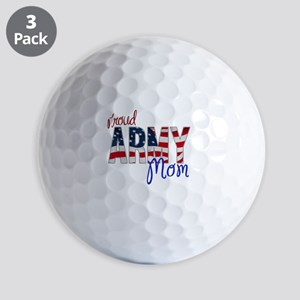 Proud Patriotic Army Mom Golf Ball