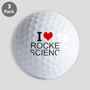 I Love Rocket Science Golf Ball