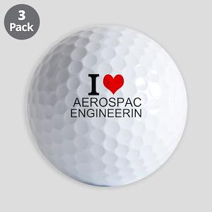 I Love Aerospace Engineering Golf Ball