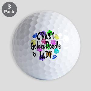 Crazy Goldenddoodle Lady Golf Balls