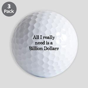 A Billion Dollars Golf Ball