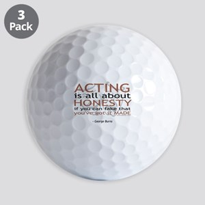 George Burns Acting Quote Golf Balls