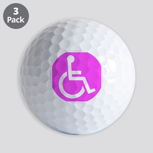 Handicapped Disabled Female Woman Golf Ball