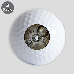 Steampunk, clocks and gears Golf Ball