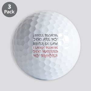 Smile Sister In Law Golf Ball